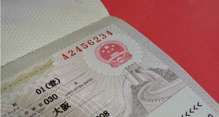 chinesisches Visum in Hong Kong